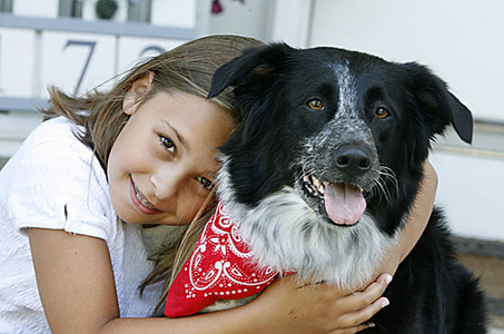 Girl With Border Collie